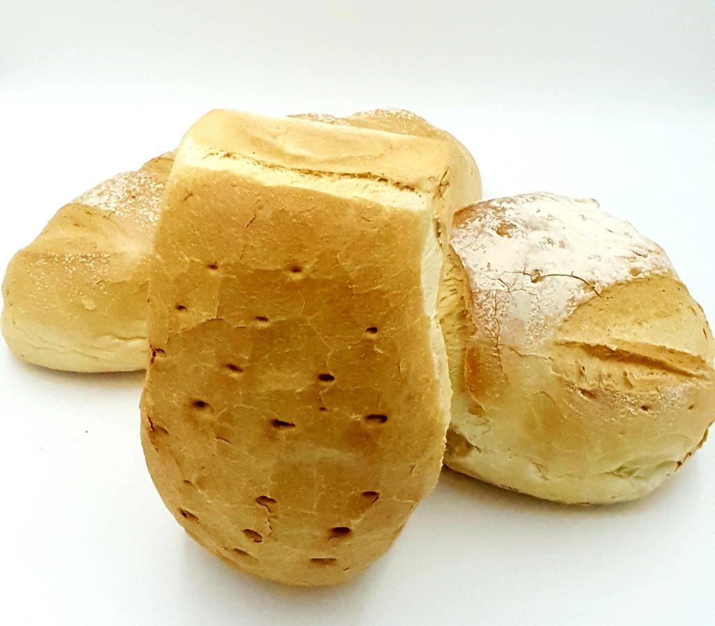 pain blanc, brique, rond, boulot